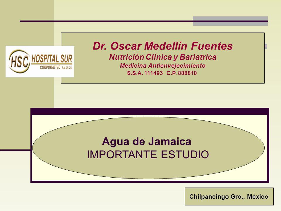 Agua de Jamaica IMPORTANTE ESTUDIO Dr.