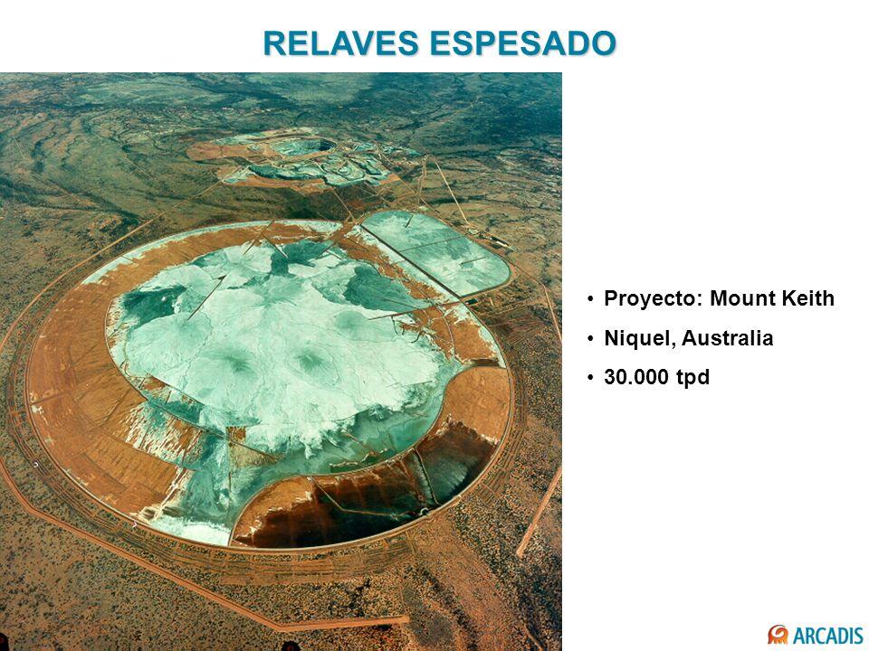 RELAVES ESPESADO Proyecto: Mount Keith Niquel, Australia 30.000 tpd