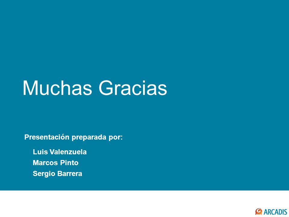 COMENTARIOS FINALES Muchas Gracias Luis Valenzuela Marcos Pinto Sergio Barrera Presentación preparada por: