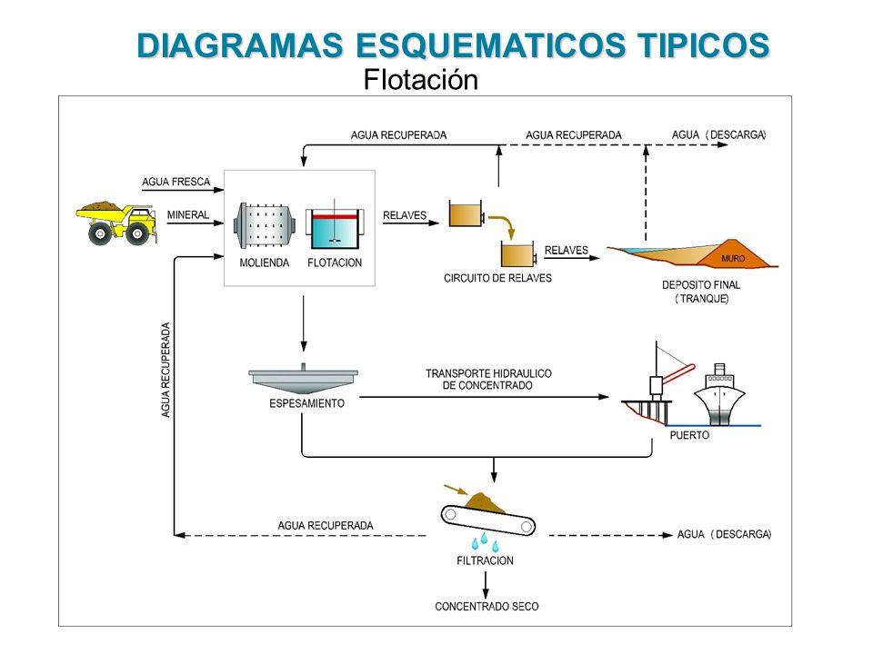 DIAGRAMAS ESQUEMATICOS TIPICOS Flotación