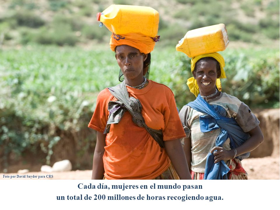 Cada día, mujeres en el mundo pasan un total de 200 millones de horas recogiendo agua.