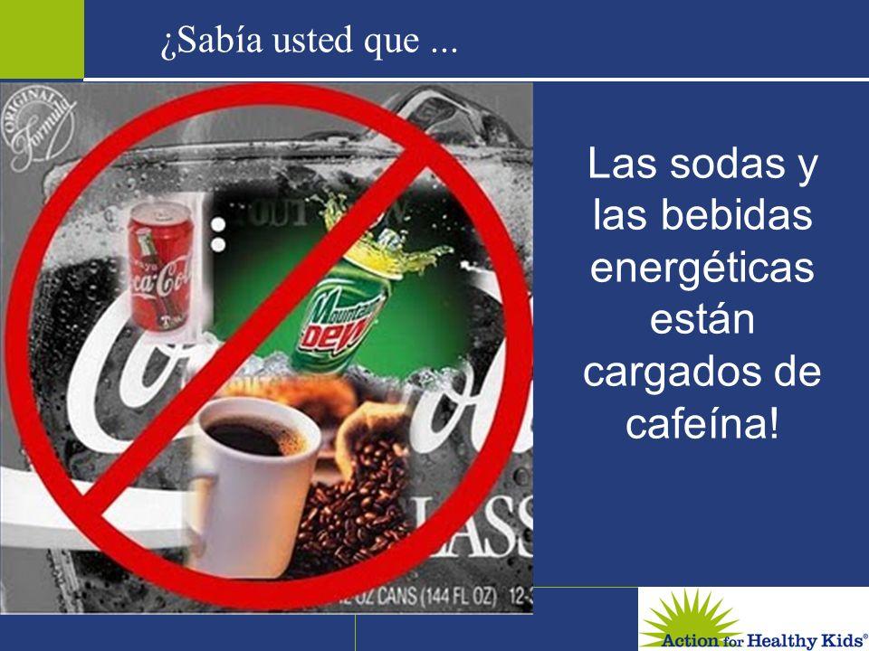 Las sodas y las bebidas energéticas están cargados de cafeína! ¿Sabía usted que...