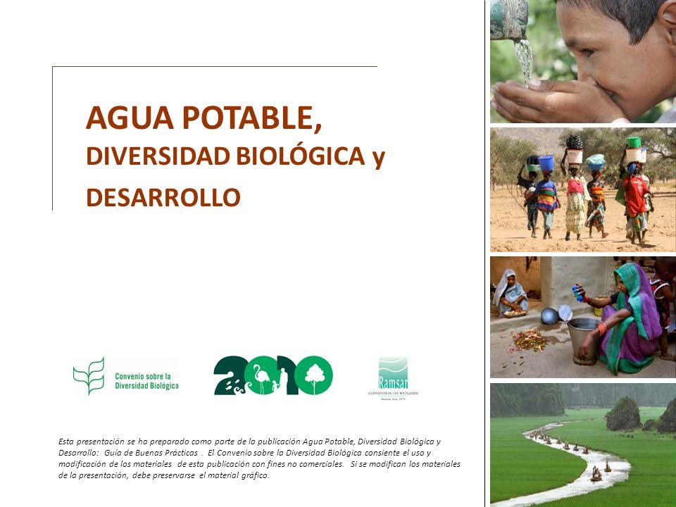Esta presentación se ha preparado como parte de la publicación Agua Potable, Diversidad Biológica y Desarrollo: Guía de Buenas Prácticas.