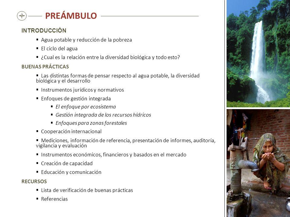 Instrumentos económicos, financieros y basados en el mercado El abastecimiento del agua potable, independientemente de la forma en que se realice, cuesta dinero.