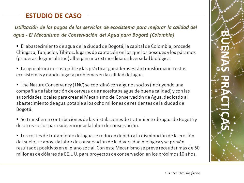 Utilización de los pagos de los servicios de ecosistema para mejorar la calidad del agua - El Mecanismo de Conservación del Agua para Bogotá (Colombia