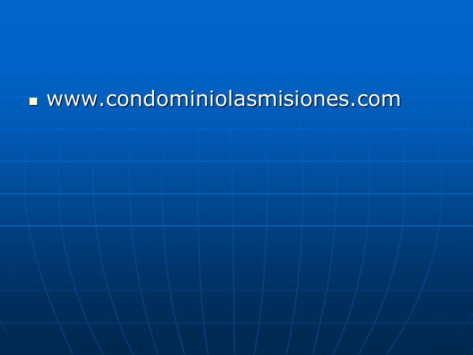 www.condominiolasmisiones.com www.condominiolasmisiones.com