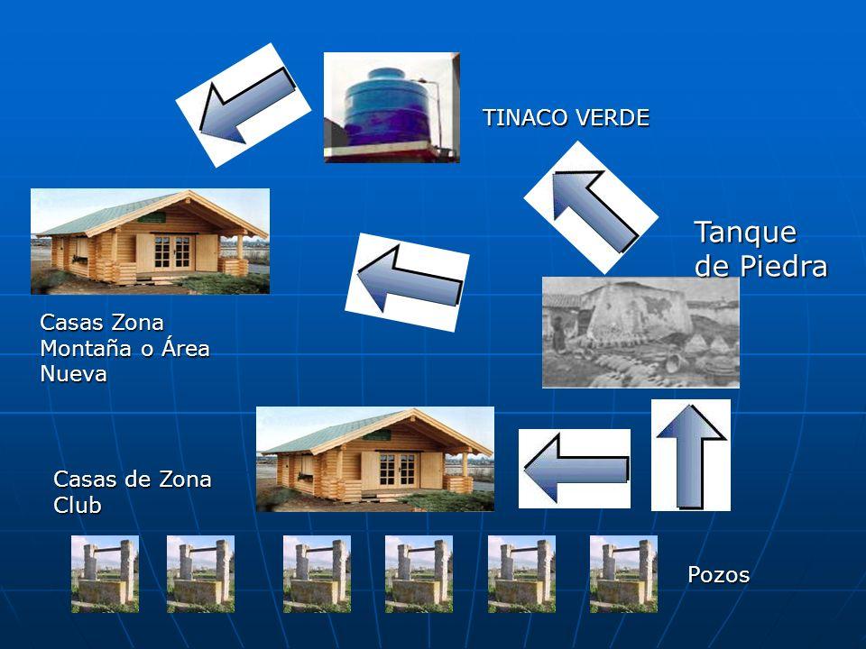 Casas de Zona Club Tanque de Piedra TINACO VERDE Casas Zona Montaña o Área Nueva Pozos
