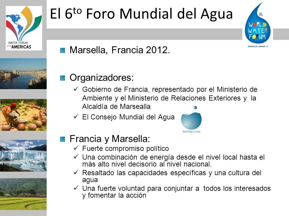 Marsella, Francia 2012. Organizadores: Gobierno de Francia, representado por el Ministerio de Ambiente y el Ministerio de Relaciones Exteriores y la A