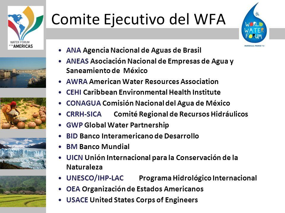 ANA Agencia Nacional de Aguas de Brasil ANEAS Asociación Nacional de Empresas de Agua y Saneamiento de México AWRA American Water Resources Associatio