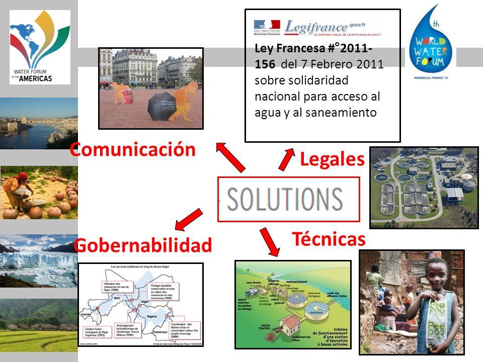 Ley Francesa #°2011- 156 del 7 Febrero 2011 sobre solidaridad nacional para acceso al agua y al saneamiento Comunicación Legales Técnicas Gobernabilid
