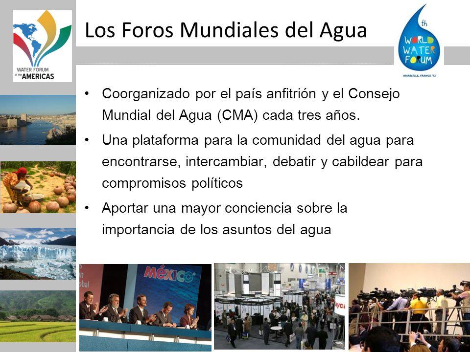 Los Foros Mundiales del Agua Coorganizado por el país anfitrión y el Consejo Mundial del Agua (CMA) cada tres años. Una plataforma para la comunidad d