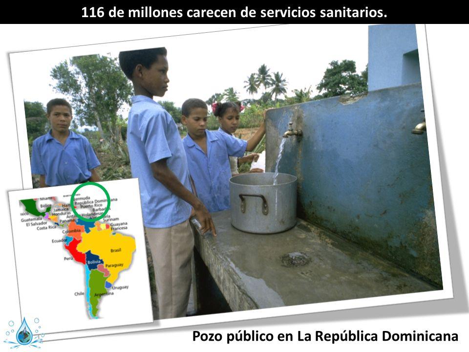Pozo público en La República Dominicana 116 de millones carecen de servicios sanitarios.