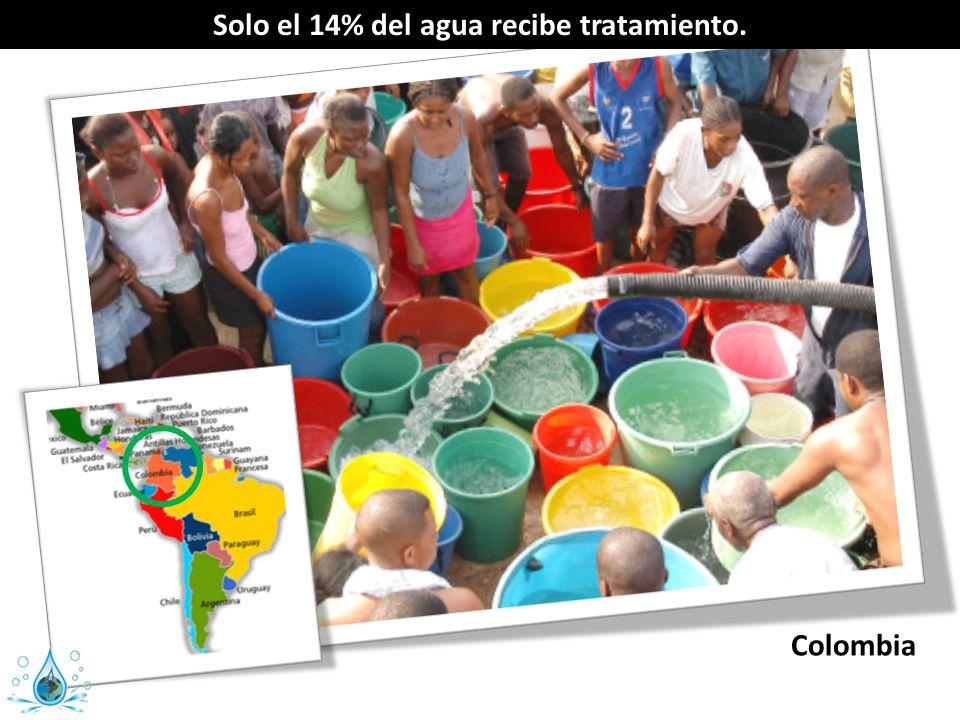 Solo el 14% del agua recibe tratamiento. Colombia