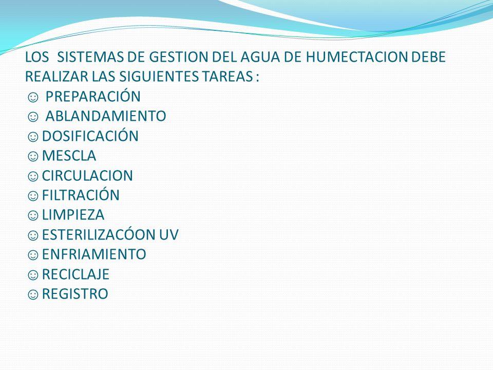 SISTEMAS DE TRATAMIENTO PARA EL AGUA 1) Suavizado del agua: Es el proceso utilizado para reducir la cantidad de sales minerales del agua.