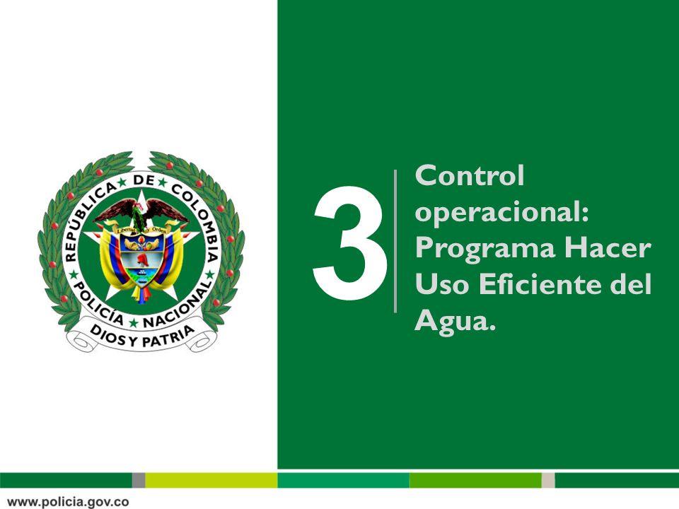 3 Control operacional: Programa Hacer Uso Eficiente del Agua.
