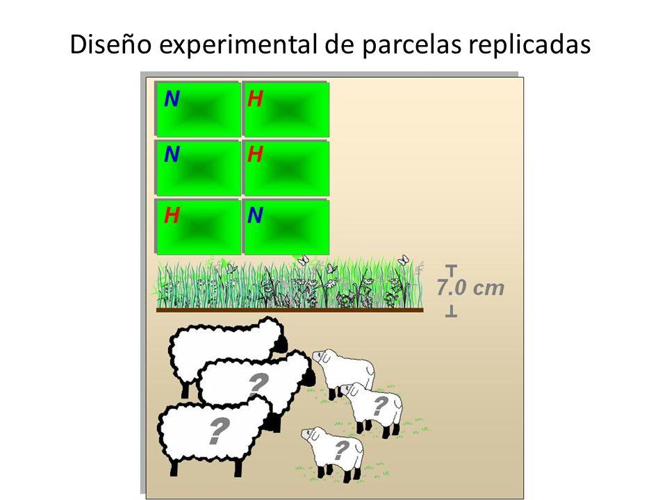 Diseño experimental de parcelas replicadas