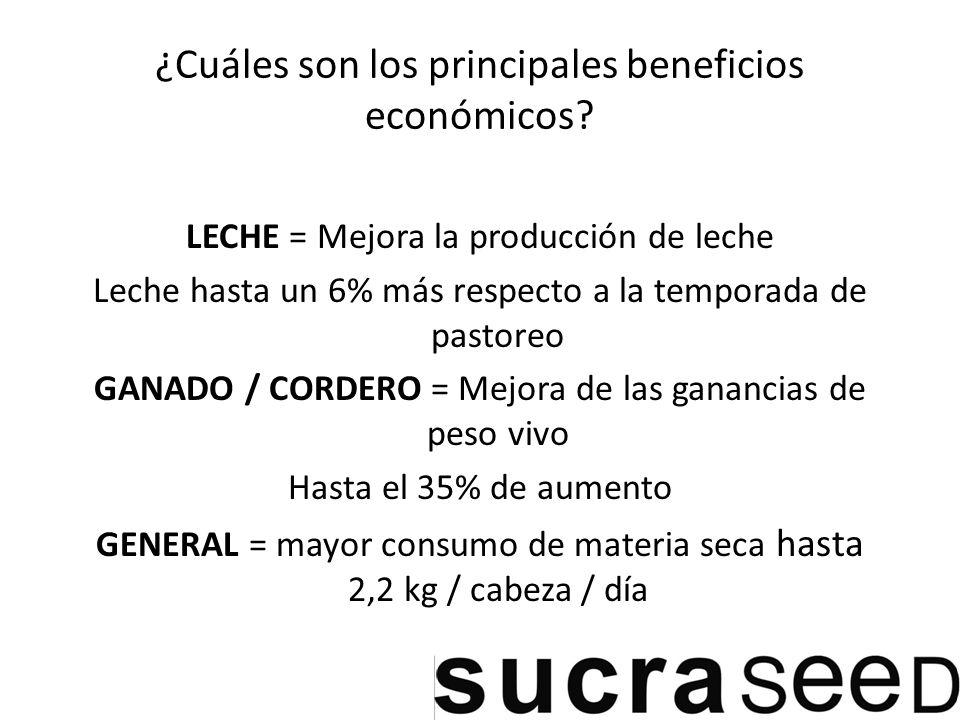 ¿Cuáles son los principales beneficios económicos.