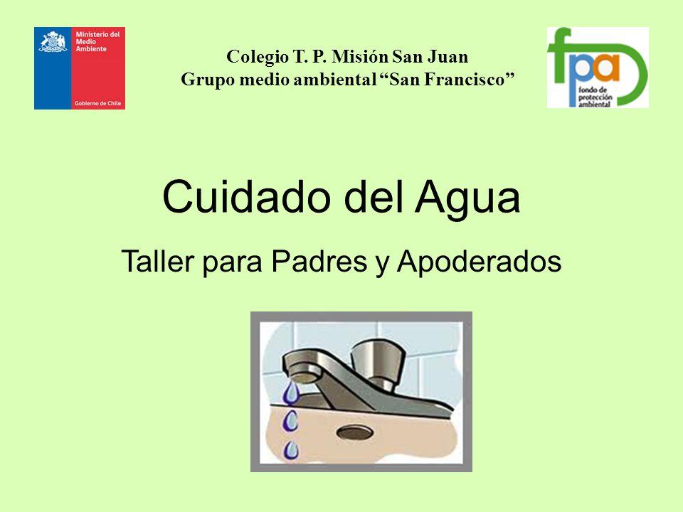 Cuidado del Agua Taller para Padres y Apoderados Colegio T. P. Misión San Juan Grupo medio ambiental San Francisco