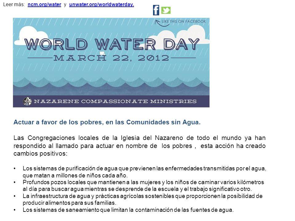 Los sistemas de purificación de agua que previenen las enfermedades transmitidas por el agua, que matan a millones de niños cada año.