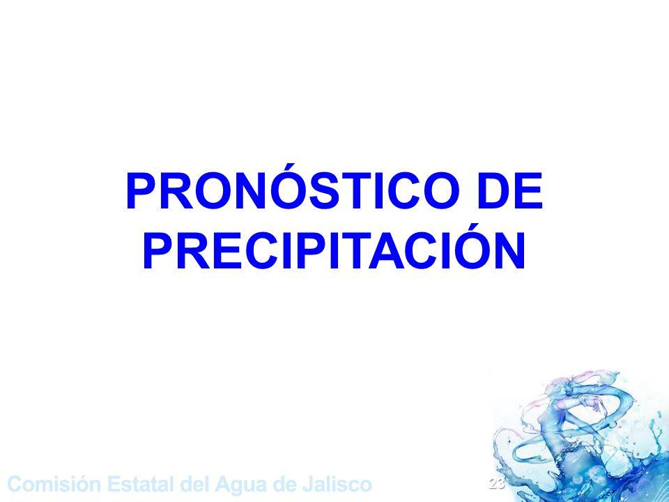 PRONÓSTICO DE PRECIPITACIÓN 23