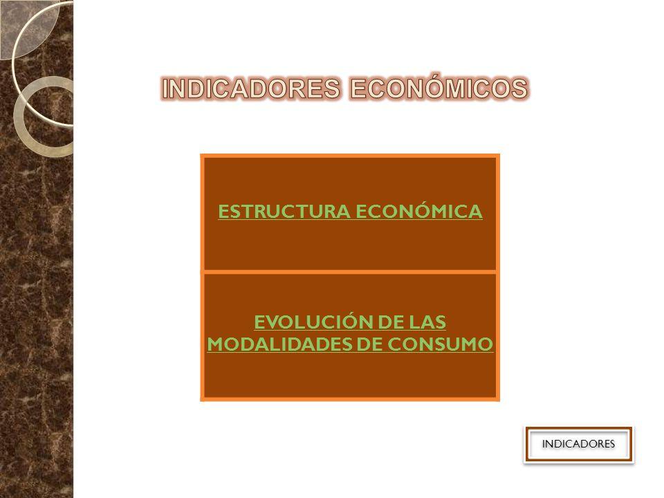 ESTRUCTURA ECONÓMICA EVOLUCIÓN DE LAS MODALIDADES DE CONSUMO INDICADORES