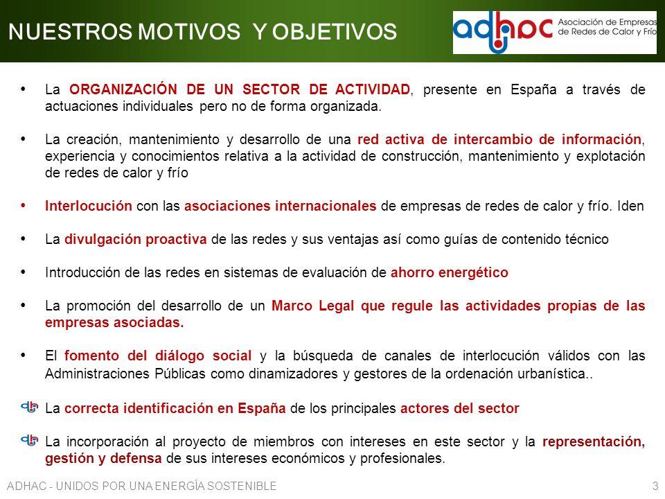 La ORGANIZACIÓN DE UN SECTOR DE ACTIVIDAD, presente en España a través de actuaciones individuales pero no de forma organizada. La creación, mantenimi