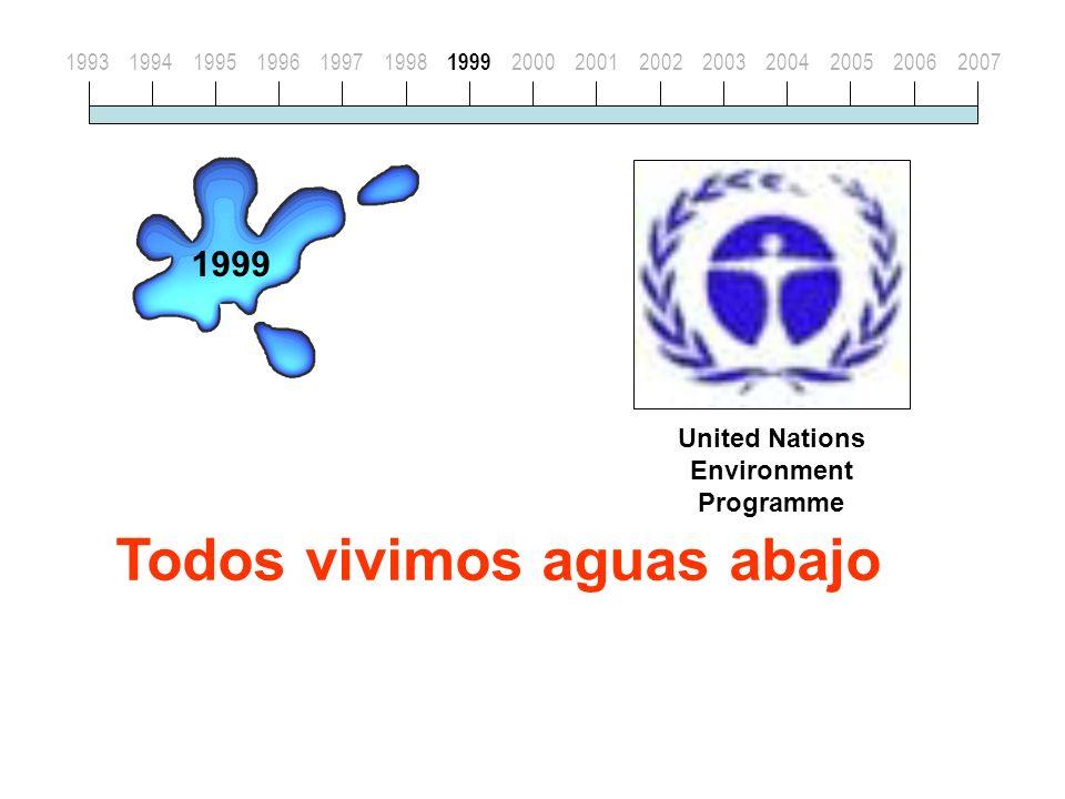 Todos vivimos aguas abajo United Nations Environment Programme 199319941995199619971998 1999 20002001200220032004200520062007 1999