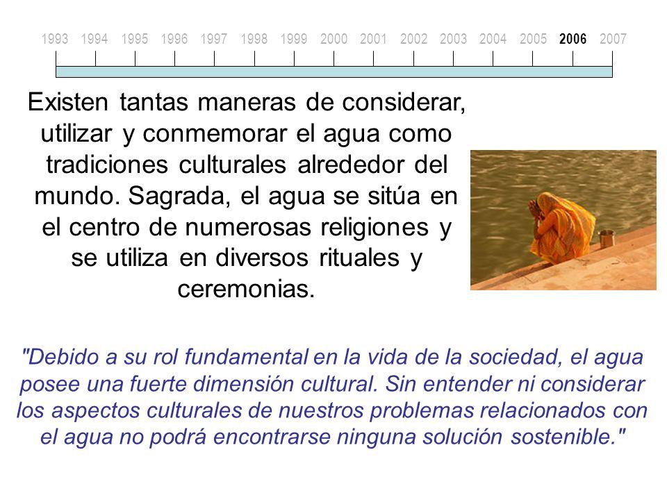 Existen tantas maneras de considerar, utilizar y conmemorar el agua como tradiciones culturales alrededor del mundo.