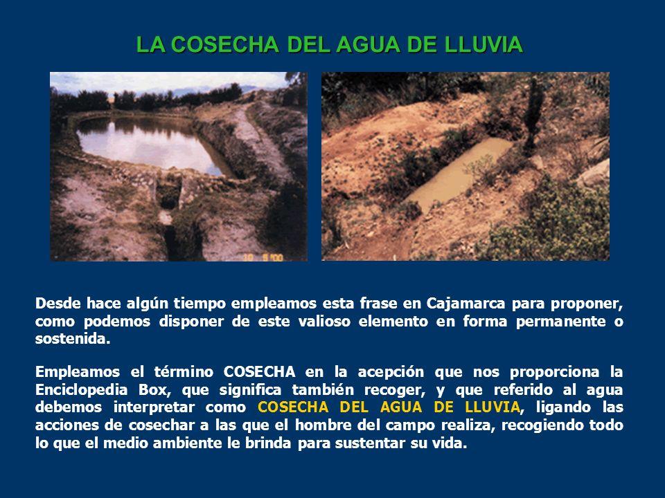 Desde hace algún tiempo empleamos esta frase en Cajamarca para proponer, como podemos disponer de este valioso elemento en forma permanente o sostenida.