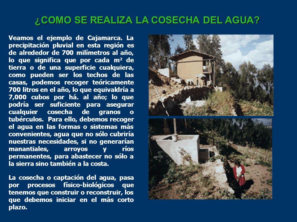 ¿COMO SE REALIZA LA COSECHA DEL AGUA.Veamos el ejemplo de Cajamarca.