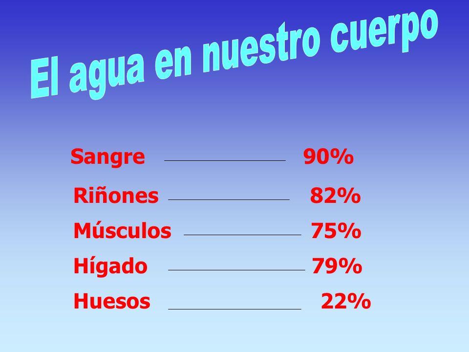 En nuestro planeta sólo el 2,8% es agua dulce y el 97,2% es agua salada.