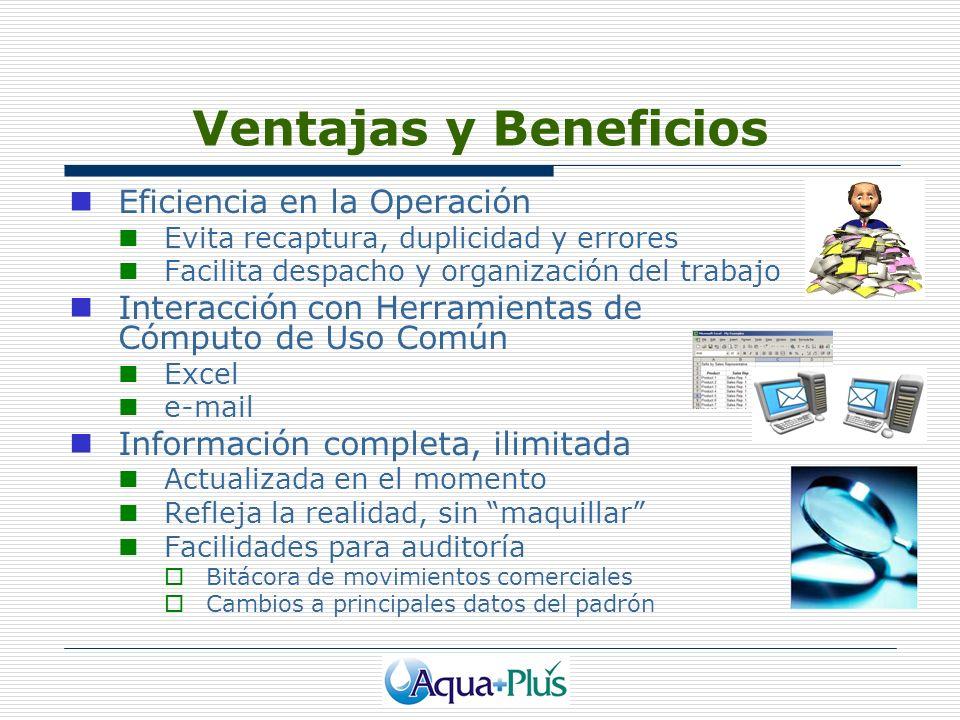 Ventajas y Beneficios Eficiencia en la Operación Evita recaptura, duplicidad y errores Facilita despacho y organización del trabajo Interacción con He