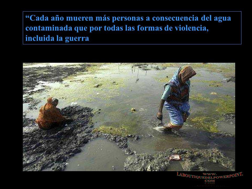 Cada año mueren más personas a consecuencia del agua contaminada que por todas las formas de violencia, incluida la guerra