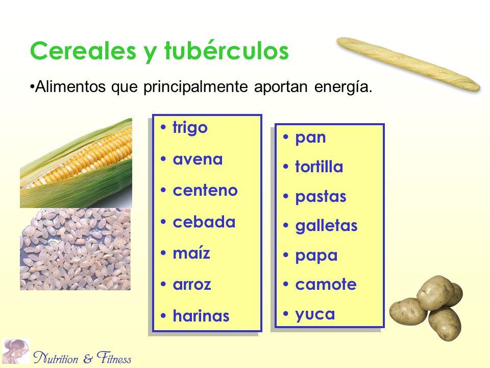 trigo avena centeno cebada maíz arroz harinas trigo avena centeno cebada maíz arroz harinas pan tortilla pastas galletas papa camote yuca pan tortilla