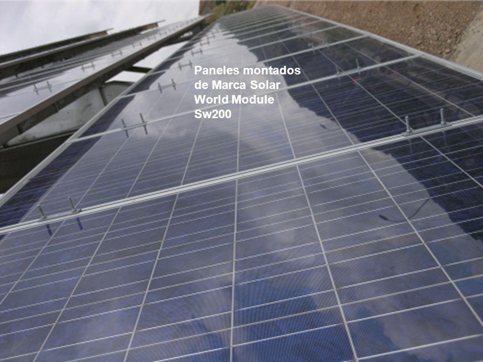 Paneles montados de Marca Solar World Module Sw200