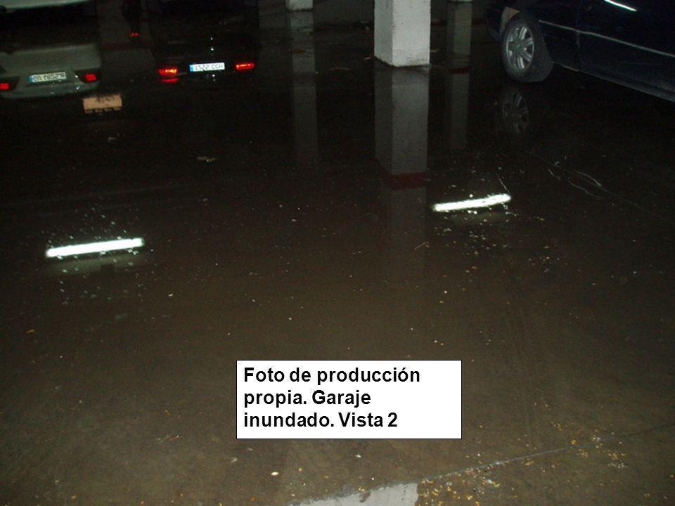 Foto de producción propia. Garaje inundado. Vista 2
