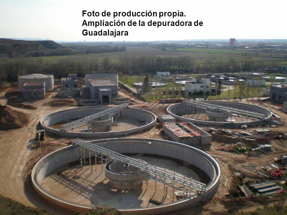 Foto de producción propia. Ampliación de la depuradora de Guadalajara