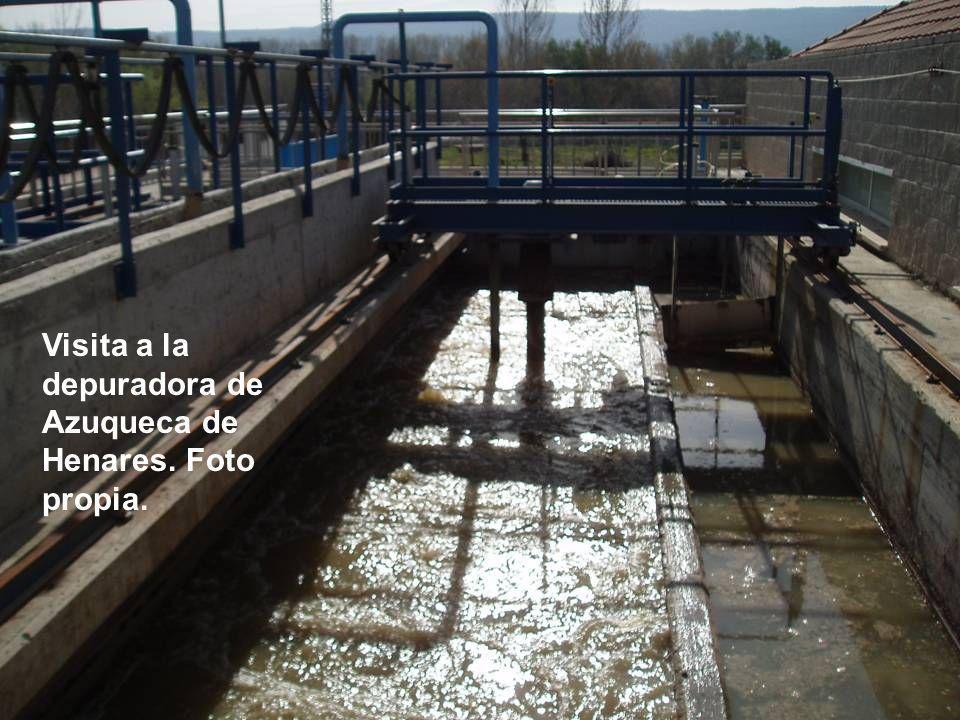 Visita a la depuradora de Azuqueca de Henares. Foto propia.