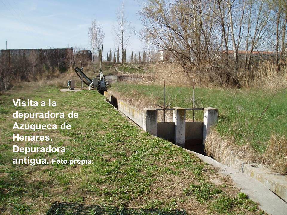 Visita a la depuradora de Azuqueca de Henares. Depuradora antigua. Foto propia.