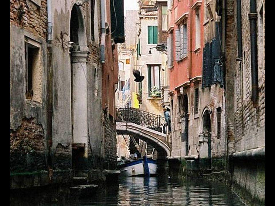 Como se vio, la ciudad de Venecia está ubicada sobre una gran conjunto de pequeñas islas ubicadas en el centro de una laguna pantanosa en el mar Adriá