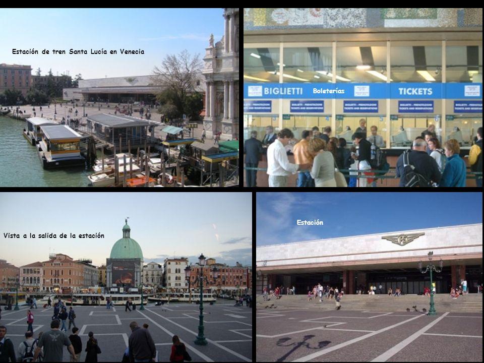 Existen dos estaciones de ferrocarril en Venecia.