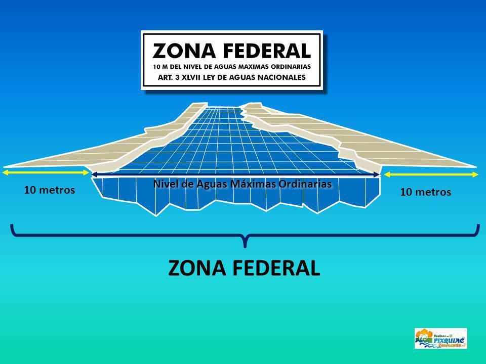 ZONA FEDERAL 10 metros Nivel de Aguas Máximas Ordinarias