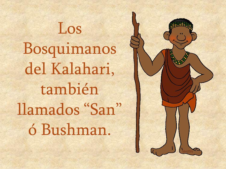 Los Bosquimanos del Kalahari, también llamados San ó Bushman.