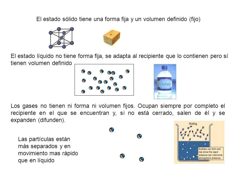 La materia está formada por átomos.