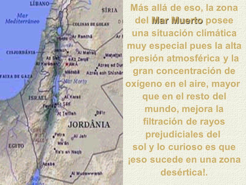 Mar Muerto También es famoso el Mar Muerto por sus manantiales térmicos y por el barro negro que es aplicado en el cuerpo para limpieza de la piel y m