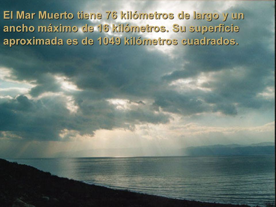 Mar Muerto Más allá de eso, la zona del Mar Muerto posee una situación climática muy especial pues la alta presión atmosférica y la gran concentración