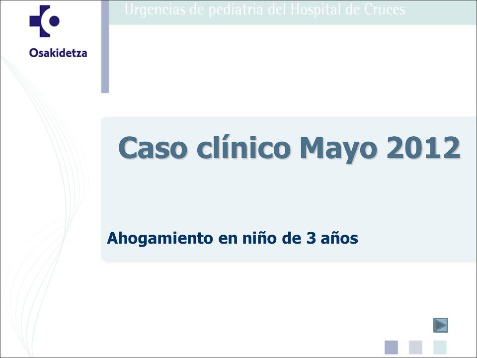 Ahogamiento en niño de 3 años Caso clínico Mayo 2012