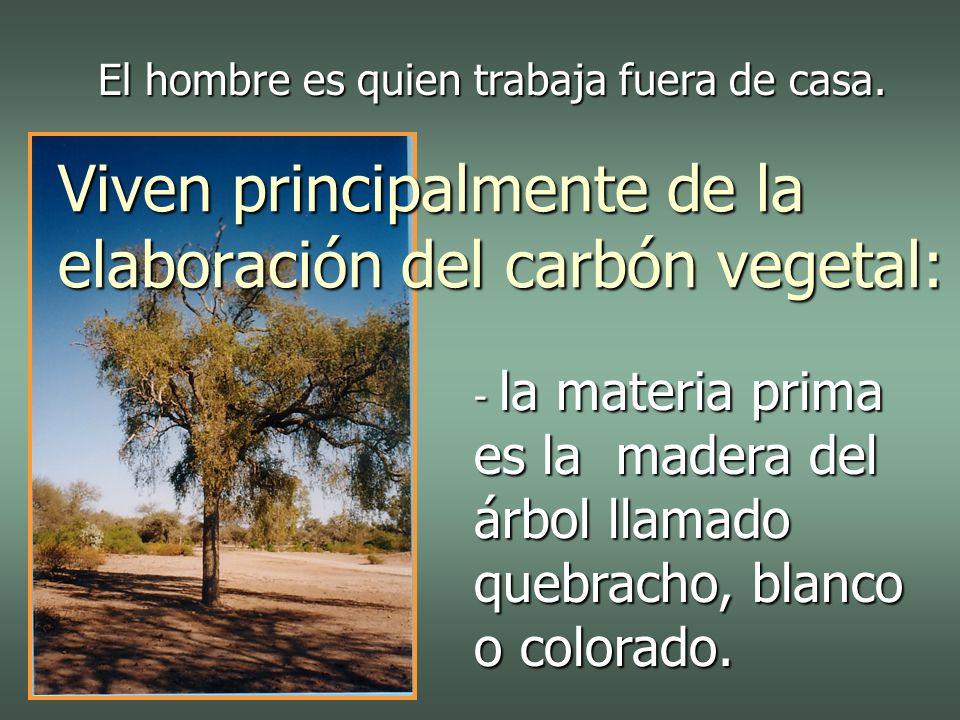- la materia prima es la madera del árbol llamado quebracho, blanco o colorado.
