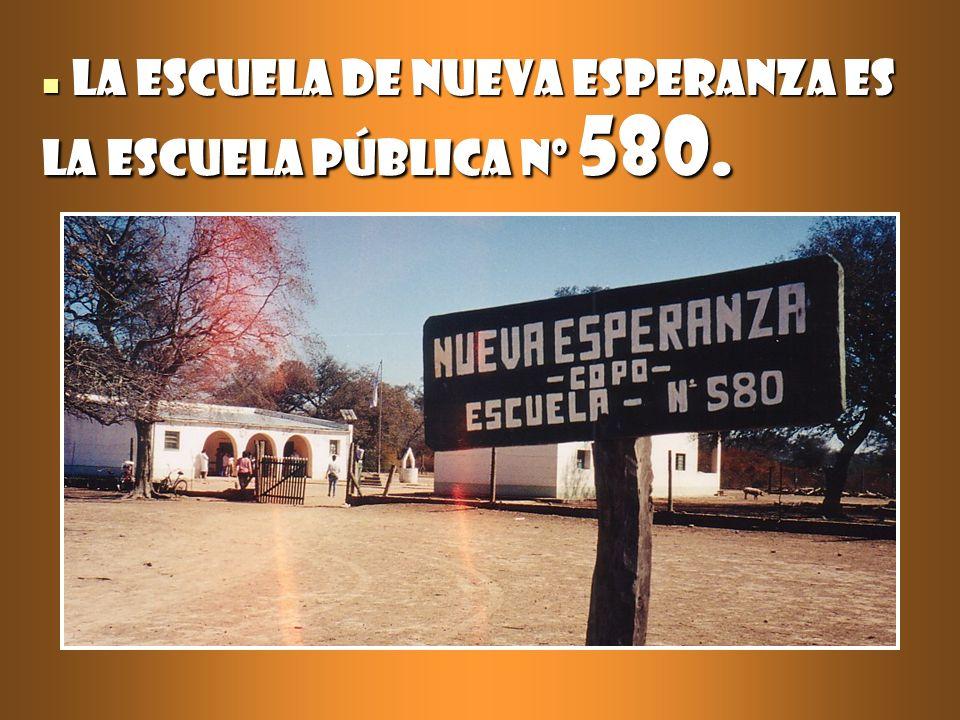 La escuela de Nueva Esperanza es la escuela pública nº 580.