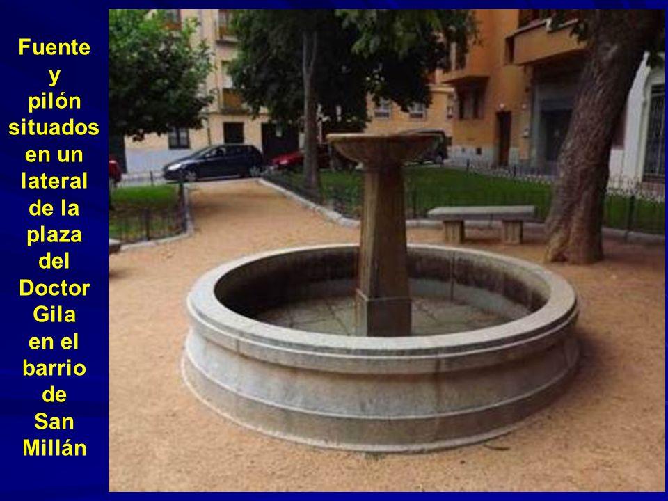 Bonita fuente situada bajo el talud del paseo del Salón